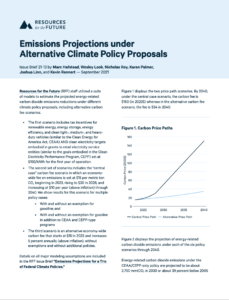 Emissions Projections under Alternative Climate Policy Proposals