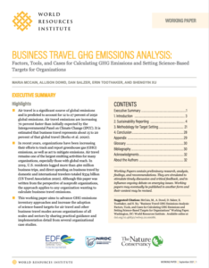 Business Travel GHG Emissions Analysis