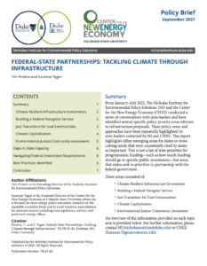 Federal-State Partnerships: Tackling Climate through Infrastructure