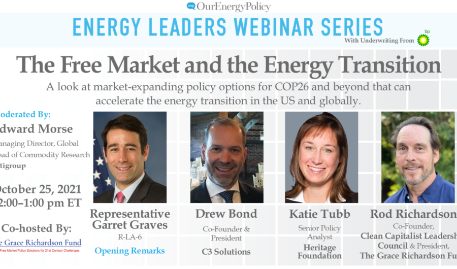 The Free Market and the Energy Transition