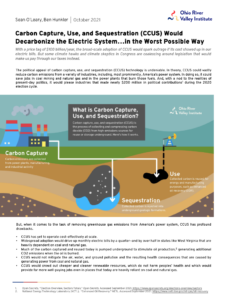 Carbon Capture, Use, and Sequestration Would Decarbonize the Electric System…in the Worst Possible Way