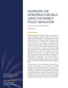 Modeling The Infrastructure Bills Using The Energy Policy Simulator